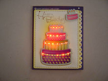 LED Light Voice Recording Greeting Cards for Birthday