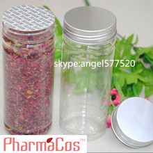 black plastic bottle cap clear plastic bottle jar for whitening cosmetic cream