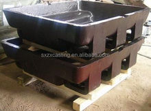cast steel low profile sow moulds with fork slots for aluminum/lead/zinc/nickle recycling