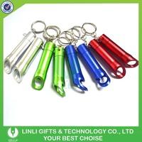 Promotional Colorful Aluminium Bottle Opener Key Light,Led Key Light,Light Up Keychain
