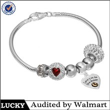 Fashion snake chain custom charm bracelet 2015,fashion bracelet