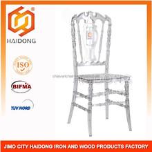 Wedding Furniture Clear Resin Royal Chair / Clear Chiavari Tiffany Chair,