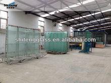De espesor 6mm laminado blanco esmerilado de vidrio seguro/de gran tamaño de vidrio laminado/hecho en china