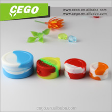 Mini size ecig silicone customized bho oil container dab wax custom silicone rubber container for dry herb vape pen