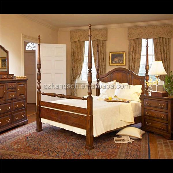Solid wood oak bedroom furniture set buy solid wood for Solid wood bedroom furniture