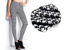 Hot Sale Fashion Houndstooth Tight Sexy Women Leggings