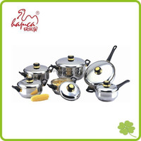 Professional 12pcs Stainless steel Induction Cookware, hot pot cooking pot Set