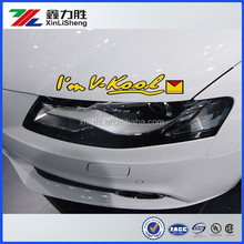 Car window static cling decal, cling window film for car
