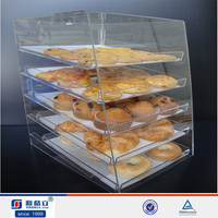 4 tier design clear acrylic cake display stand