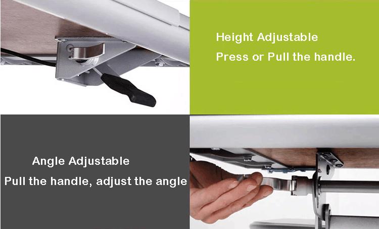 Diseño ergonómico escritorio altura ajustable para los niños