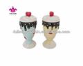 completo de pintado a mano de cerámica tazas de helado con tapas de bóveda