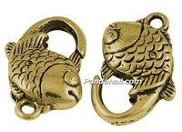 Alloy Lobster Claws, Antique Golden Color, 20mm long, 12mm wide, 6mm thick, hole: 2mm(GLF15Y)