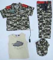 Boys battle dress uniform 4pcs set battle fatigues military uniforms