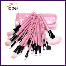 Professional 32 PCS Cosmetic Facial Make up Brush Kit Set Wool Makeup Brushes Tools with Black Leather Case
