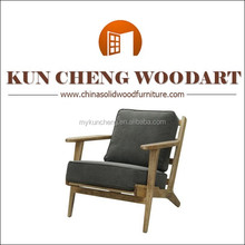 Single seater sofa chairs/Alibaba China Solid Wood frame sofa with fabric cover