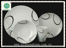 black and white coupe porcelain dinner ware guangxi