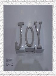 """2015 hot sale brown color wood alphabet """"joy"""" decorative for home decoration"""