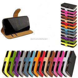 wholesale hot selling Leather wallet mobile phone case cover for Samsung galaxy s6