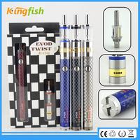 kingfish product 1.5ohm atomizer evod twist 3 m16 cigarro electronico for china wholesale