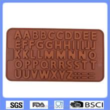 Carta de cumpleaños decoración de pasteles en el pastel, silicón del alfabeto del molde, chocolate y molde de la galleta