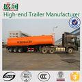 Acero al carbono de 2 o 3 ejes de aceite / combustible camión cisterna remolque, combustible tanque contenedor