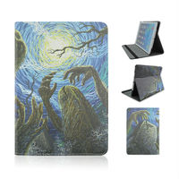 New Style Horrible Demons Pattern Cover On Standing Leather Case About Halloween Festival For Apple iPad Air 5