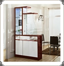 Hallway cabinet furniture 968# wood storage cabinet with casters tall storage cabinets with doors
