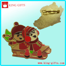 Christmas girls lapel pin