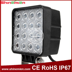 Square Auto Driving Light 48w Led Work Lights For Trucks Life Span 4INCH