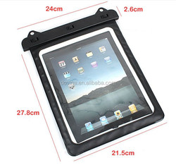 Transparent Waterproof Pouch Dry Bag Sleeve PVC Case Black for Tablet iPad 2 Mini Fit with Samsung GALAXY Tab 3 8.0 Note N8000