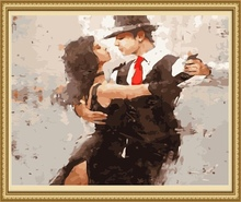 40*50cm dance couple painting, oil painting picture frames