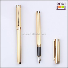 luxury full gold colored superb high quality jinhao metal fountain pen with metal brushed barrel