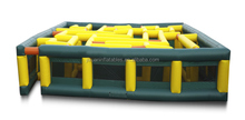 newest inflatable large maze,inflatable maze games, inflatable paintball playground