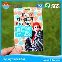 ID clear cute plastic flexible pvc promotional luggage tag
