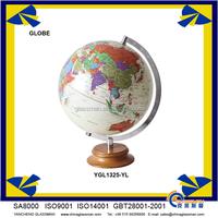 Customized beautiful world globe YGL1325-YL