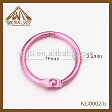 color iron high quality 19mm diameter ring bound book
