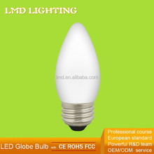 CE GS FCC 230V Milky Glass 2700K Warm White 3.5W E27 C35 LED Filament Candle Lamp Ceiling Light Led