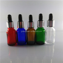 15ml glass dropper bottles with glass pipette and childproof cap with Shrink bands from guangzhou glass bottle suppliers
