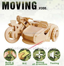 Building/assembling wooden small car toy for boys