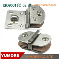 Semicircle clamp single side door and gate latches metal fixing clamps for square tube