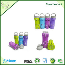 Hot Eco-friendly Silicone Bottle Sleeve for Glass Water or Wine Bottle, Coffee Cup