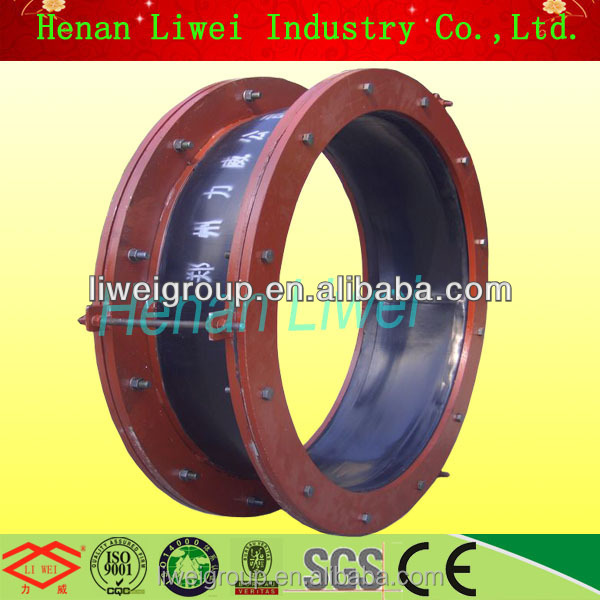 Fiberglass fabric reinforced rubber pipe expansion joint