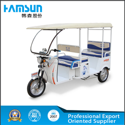 Passenger's electric tricycle for adult