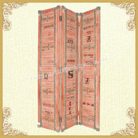 Antique indoor decorative wooden folding screen