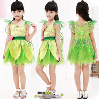 Elf butterfly costumes for kids girls with wings fairy prom dresses