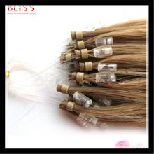 Top quality micro loop ring virgin remy European human hair extension, 1g per strand wholesale hair weave price