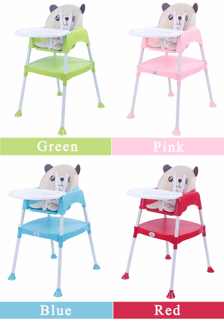 Multi-Fonction Coloré En Plastique Bébé Chaise Haute, 3 en 1 Bébé Chaise