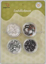 DIY embellishment kits with buttons & rhinestone