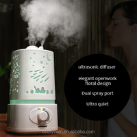 LED Night Light With Carve Design ceramic air humidifier, natural humidifier, magic sky humidifier fountain lamps