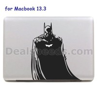 For Macbook Sticker, Detachable Decorative Decal Skin Sticker for MacBook Air/Pro 13.3 with Batman